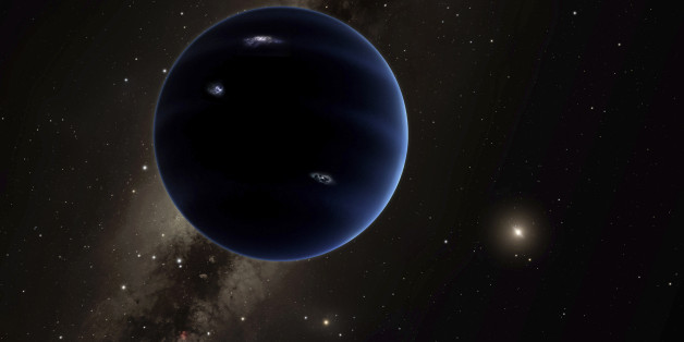 "An artist's rendering shows the distant view from ""Planet Nine"" back towards the sun in this handout photo provided by California Institute of Technology (Caltech) in Pasadena, California, January 20, 2016.  New research from Caltech astronomers suggests the solar system may be home to another big planet, this one located far beyond Pluto. An analysis published on Wednesday in The Astronomical Journal shows the planet, estimated to be about 10 times bigger than Earth, could be impacting the orbits of small icy bodies beyond Neptune. REUTERS/R. Hurt/Caltech/IPAC/Handout via Reuters"