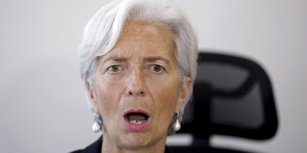 International Monetary Fund (IMF) Managing Director Christine Lagarde reacts during a meeting with Brazil's Finance Minister Joaquim Levy (not pictured) at the Finance Ministry in Brasilia, May 21, 2015. REUTERS/Ueslei Marcelino