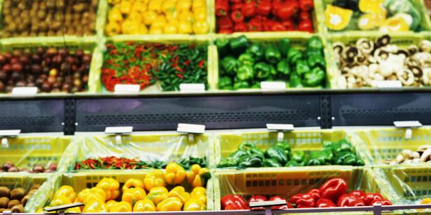 vegetables in a super market