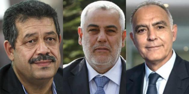 De gauche à droite, Hamid Chabat, Abdelilah Benkirane et Salaheddine Mezouar