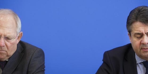 Gabriel lässt Schäuble auflaufen: Koalitions-Krach um Griechenland-Rettung