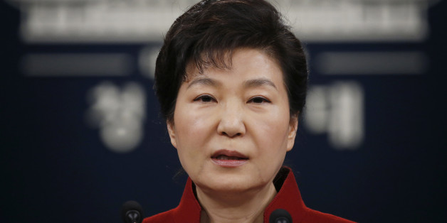 "FILE - In this Jan. 13, 2016, file photo, South Korean President Park Geun-hye addresses the nation during her news conference at the Presidential Blue House in Seoul, South Korea. Upping its rhetoric a notch, North Korea warned Saturday, March 26, 2016, that it will attack Seoul's presidential palace unless it receives an apology from South Korean President Park for ""treason."" The warning is the latest threat against Washington and Seoul over joint U.S.-South Korean military dril"