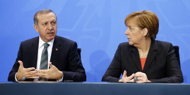 Bundeskanzlerin Angela Merkel und der türkische Präsident Recep Tayyip Erdogan im Februar 2016 in Berlin