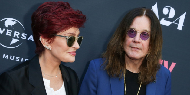 "Sharon Osbourne, left, and Ozzy Osbourne arrive at the LA Premiere of ""Amy"" at The Theater at Arclight Cinemas Hollywood on Thursday, June 25, 2015, in Los Angeles. (Photo by Rich Fury/Invision/AP)"