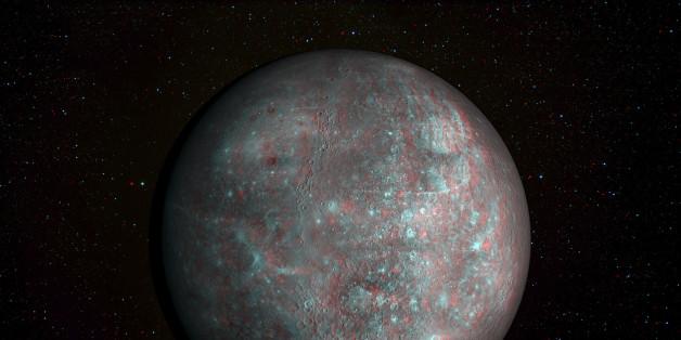Nasa zeigt ein 3D-Bild vom Merkur