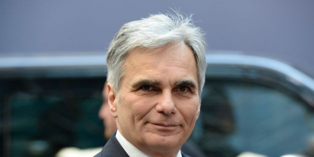 Austria's Chancellor Werner Faymann arrives for the European Union summit in Brussels on March 17, 2016, where 28 EU leaders will discuss the ongoing refugee crisis.    AFP PHOTO / THIERRY CHARLIER / AFP / THIERRY CHARLIER        (Photo credit should read THIERRY CHARLIER/AFP/Getty Images)