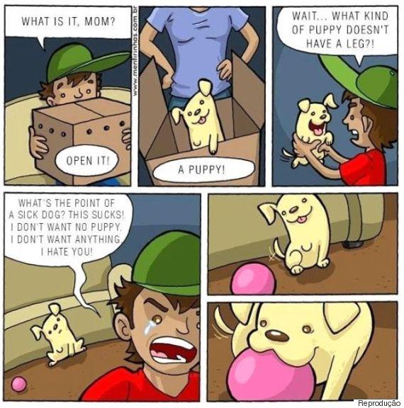 quadrinho cachorro