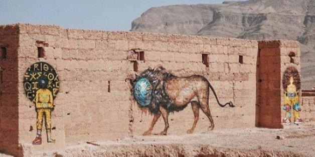 Street-art: Des fresques géantes dans le désert marocain (PHOTOS)