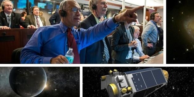 Die Nasa hat verkündet, dass sie die Existent von über 1200 neuer Planeten nachweisen kann (Collage: HuffPost)