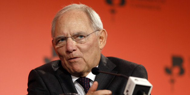 Wolfgang Schaeuble Germany's Federal Minister of Finance speaks during the British Chambers of Commerce annual conference in London, Thursday, March 3, 2016. (AP Photo/Kirsty Wigglesworth)