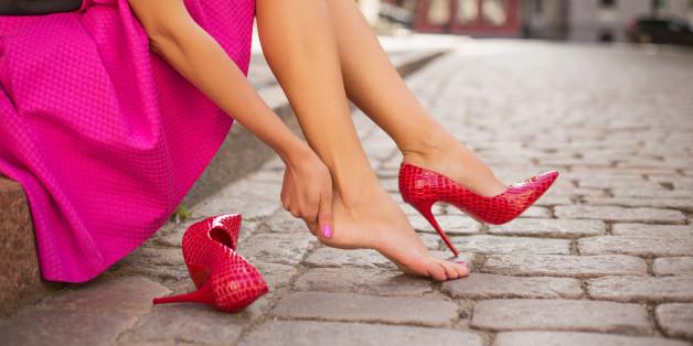 In High Heels bequem laufen - manche Frau bezweifelt das