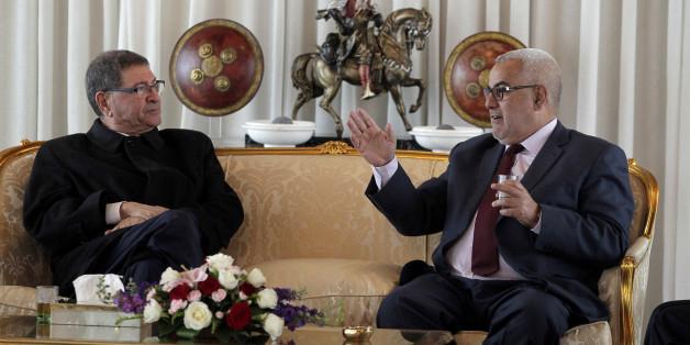 Habib Essid et Abdelilah Benkirane, mardi 10 mai 2016, à Rabat.