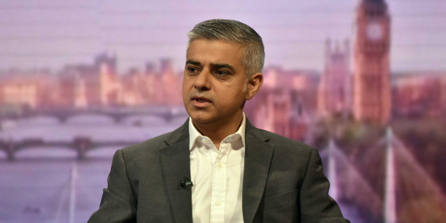 London's newly elected mayor Sadiq Khan appears on the BBC's Andrew Marr Show programe in a studio in London, Britain, May 8, 2016.  REUTERS/Jeff Overs/Handout via Reuters ATTENTION EDITORS - FOR EDITORIAL USE ONLY.  THIS IMAGE HAS BEEN SUPPLIED BY A THIRD PARTY. IT IS DISTRIBUTED, EXACTLY AS RECEIVED BY REUTERS, AS A SERVICE TO CLIENTS. NO ARCHIVES. NO RESALES.