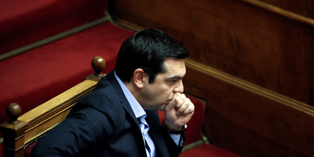 Greek Prime Minister Alexis Tsipras attends a parliamentary session before a vote of tax and pension reforms in Athens, Greece, May 8, 2016. REUTERS/Alkis Konstantinidis