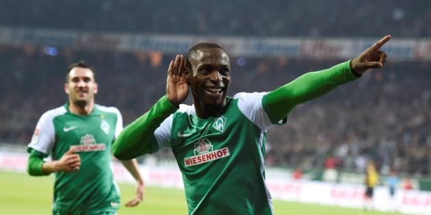 Werder Bremens Anthony Ujah will auch im Spiel gegen Eintracht Frankfurt über ein Tor jubeln. Denn ein Sieg ist am Samstag ein Muss