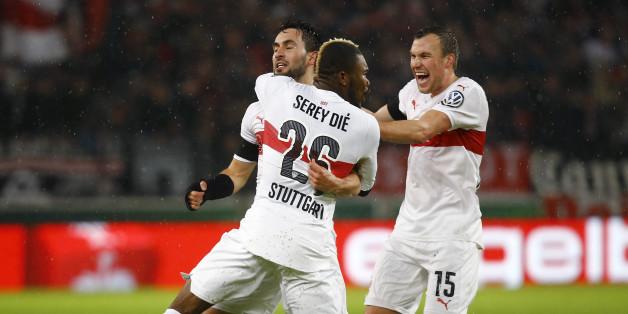 Die Spieler des VfB Stuttgart wollen am Samstag feiern - doch es wird schwer
