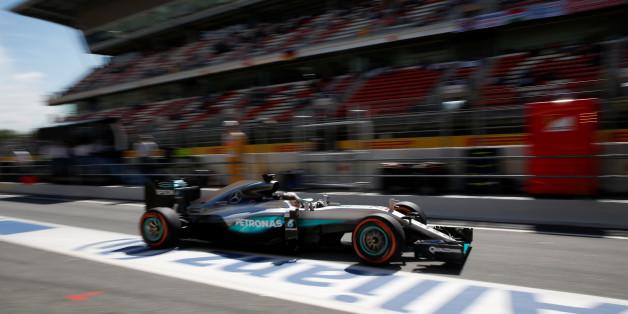 Beim Großen Preis von Spanien startet Lewis Hamilton von der Pole