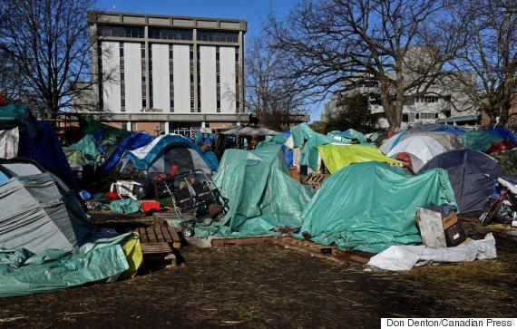 victoria court house tent city