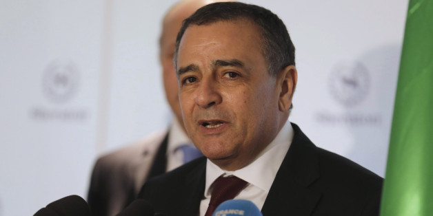 Algeria's Industry Minister Abdeslam Bouchouareb addresses a news conference in Oran, west of Algiers November 10, 2014. REUTERS/Louafi Larbi  (ALGERIA - Tags: POLITICS BUSINESS)