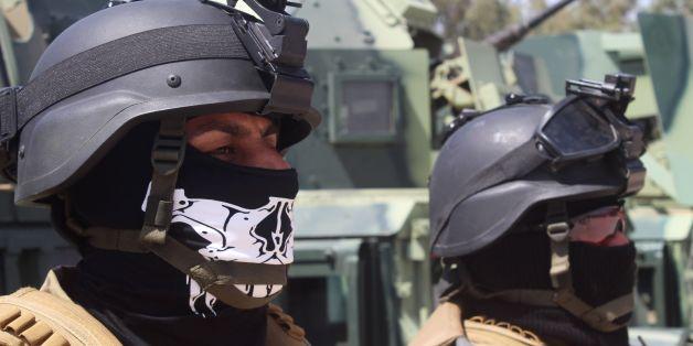 Irakischer Polizisten beim Kampf um die Stadt Ramadi im Irak