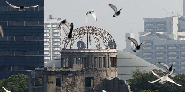 Le dôme de la bombe atomique au parc de la mémoire à Hiroshima