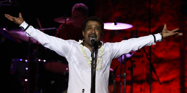 Algerian Rai singer Cheb Khaled performs during the 49th International Festival of Carthage at the Roman Theatre of Carthage, in Tunis July 20, 2013.  REUTERS/Anis Mili (TUNISIA - Tags: ENTERTAINMENT)