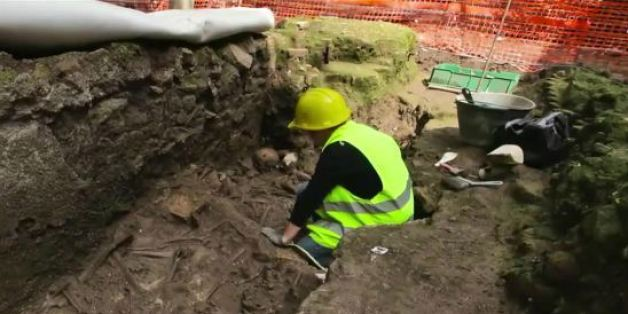 Arbeiter entdecken beim Bau einer neuen U-Bahn in Rom Überraschendes