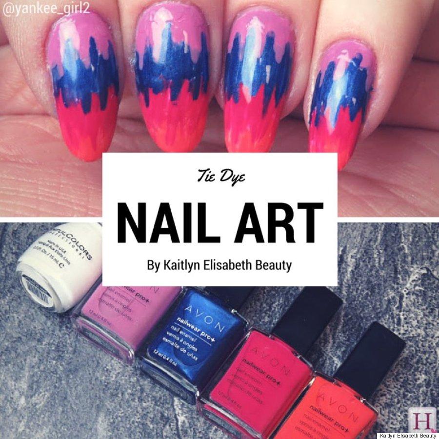 Nail Art: An Easy Tie Dye Design For Summer