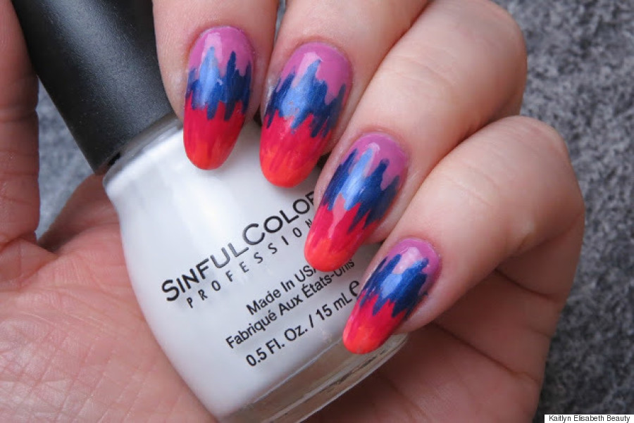 nail art - Nail Art: An Easy Tie Dye Design For Summer HuffPost Canada