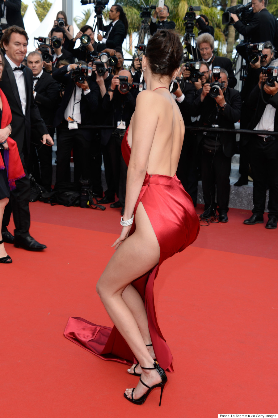 Bella Hadid Wears Quite Possibly The Sexiest Dress Of All
