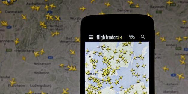 Flug-Tracking mit flightradar24.
