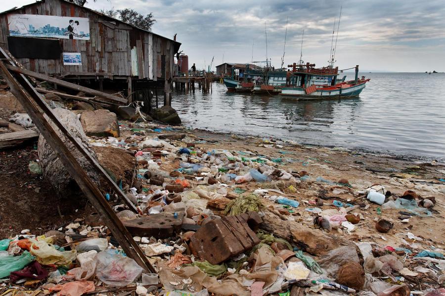 spazzatura spiaggia
