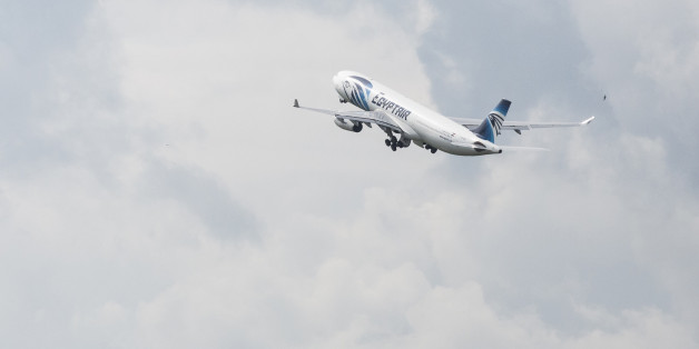 An EgyptAir Airlines passenger jet takes off from Charles de Gaulle airport, operated by Aeroports de Paris, in Roissy, France, on Thursday, May 19, 2016. Egypt deployed naval ships to search for an EgyptAir Airbus A320 en route to Cairo from Paris that went missing overnight off the coast of the North African country with 66 people on board. Photographer: Christophe Morin/Bloomberg via Getty Images