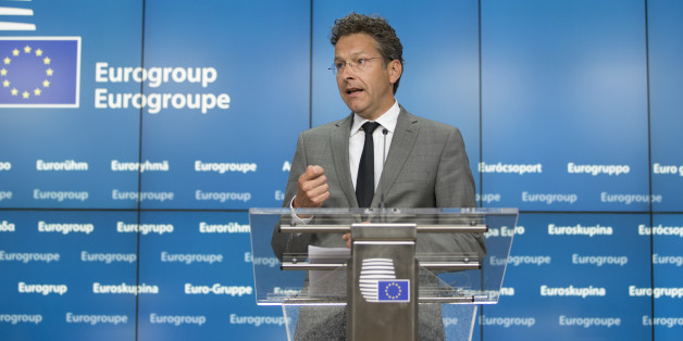 Jeroen Dijsselbloem, Dutch finance minister and head of the group of euro-area finance ministers, speaks during a press conference after a Eurogroup meeting in Brussels, Belgium, on Monday, May 9, 2016. The euro area and the International Monetary Fund will assess whether Greek Prime Minister Alexis Tsipras has made enough budget-tightening commitments to gain another disbursement of emergency loans. Photographer: Jasper Juinen/Bloomberg via Getty Images