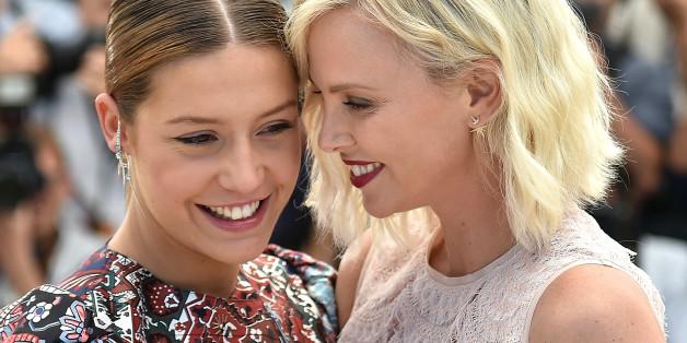 Charlize Theron et Adele Exarchopoulos à Cannes ce vendredi 20 mai
