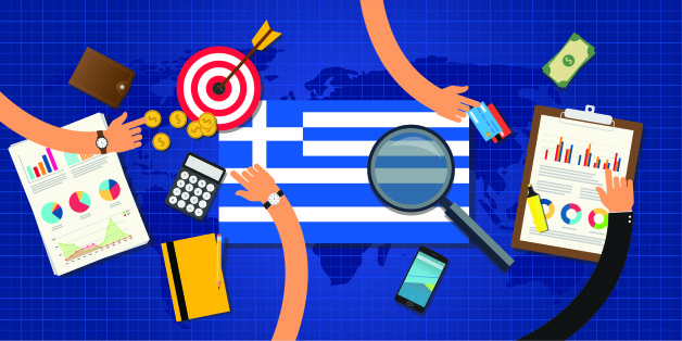 greek or greece economy and economical crisis and financial situation