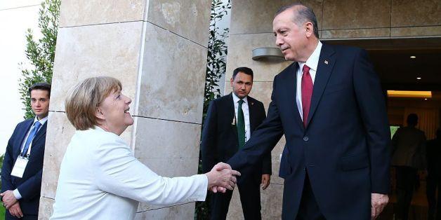 Kanzlerin Angela Merkel mit dem türkischen Präsidenten Erdogan