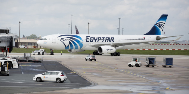 An EgyptAir Airlines passenger jet is towed on the tarmac before departure from Charles de Gaulle airport, operated by Aeroports de Paris, in Roissy, France, on Thursday, May 19, 2016. Egypt deployed naval ships to search for an EgyptAir Airbus A320 en route to Cairo from Paris that went missing overnight off the coast of the North African country with 66 people on board. Photographer: Christophe Morin/Bloomberg via Getty Images