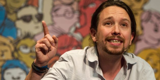 Leader of left wing party Podemos Pablo Iglesias speaks during 'The Congress on your Square' meeting held at El Pozo cultural center in Vallecas, a neighborhood of Madrid on May 11, 2016. / AFP / CURTO DE LA TORRE        (Photo credit should read CURTO DE LA TORRE/AFP/Getty Images)