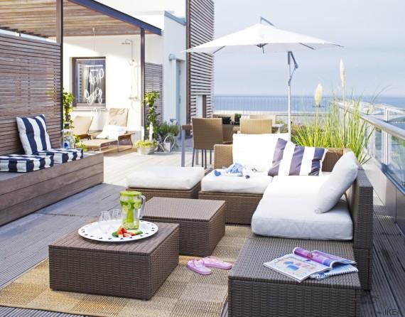 Como decorar una terraza con poco dinero amazing decorar for Decorar porche ikea