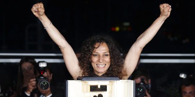 La réalisatrice Houda Benyamina, le 22 mai à Cannes