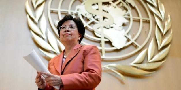 La directrice générale de l'Organisation mondiale de la santé Margaret Chan intervient lors de l'Assemblée mondiale de la santé à Genève, le 23 mai 2016