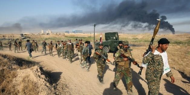 Les forces irakiennes pro-gouvernement avancent vers Fallouja le 23 mai 2016