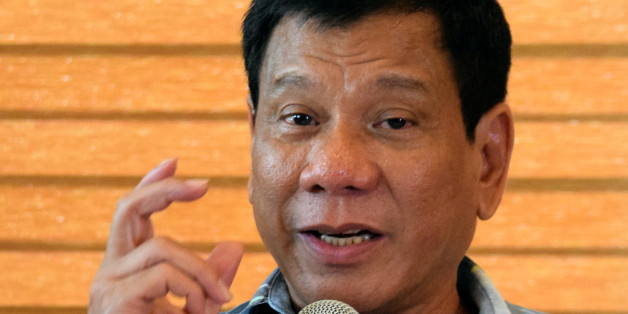 """President-elect Rodrigo """"Digong"""" Duterte speaks during a news conference in his hometown Davao City in southern Philippines, May 16, 2016.  REUTERS/Rene Lumawag    FOR EDITORIAL USE ONLY. NO RESALES. NO ARCHIVE."""