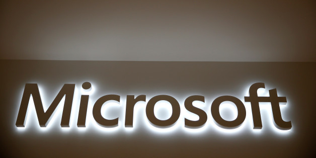 The logo of Dow Jones Industrial Average stock market index listed company Microsoft (MSFT) is seen in Los Angeles, California, United States, April 22, 2016. REUTERS/Lucy Nicholson