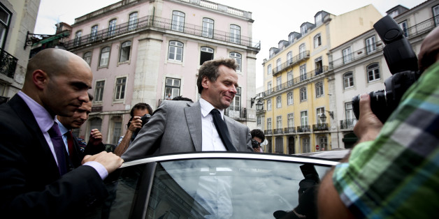 Team leader of the International Monetary Fund (IMF) Poul Thomsen leaves the Portugal Popular Party (CDS-PP) headquarters after a meeting with party leader Paulo Portas, in Lisbon on May 4, 2011. Portugal is now the third eurozone country to take up rescue crutches, with the opposition signalling Wednesday it will go along with a 78-billion-euro EU-IMF deal to avoid debt default.  AFP PHOTO/PATRICIA DE MELO MOREIRA (Photo credit should read PATRICIA DE MELO MOREIRA/AFP/Getty Images)
