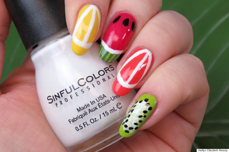 Nail Art This Fun Fruity Design Is Perfect For Summer Huffpost Canada