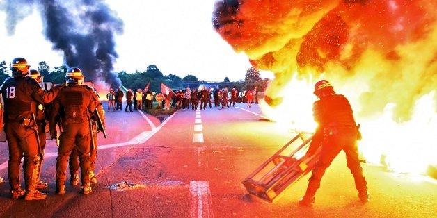 Frankreich wird seit Tagen von Protesten erschüttert