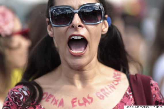 women rights protests brazil