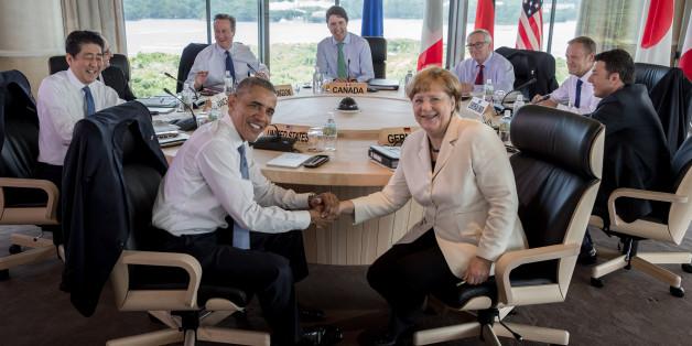 G7-Gipfel: Staatschefs drohen Russland mit neuen Sanktionen